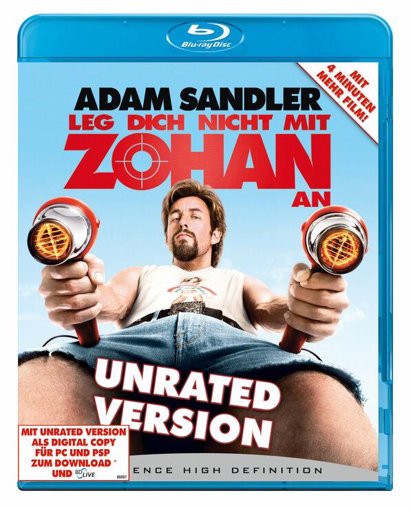 Leg dich nicht mit Zohan an - Unrated  (+DVD) Blu-ray Bild