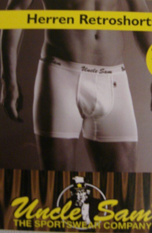 Retro-Shorts in weiß - Größe L  Bild
