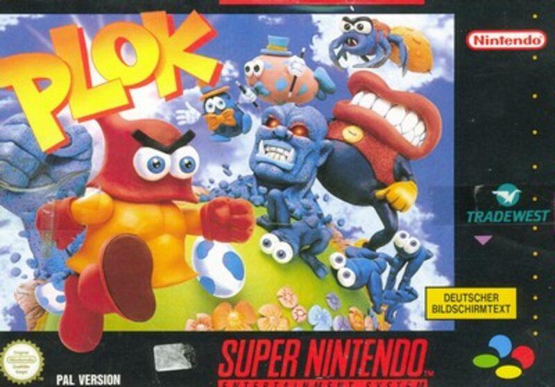 Plok Super Nintendo Bild