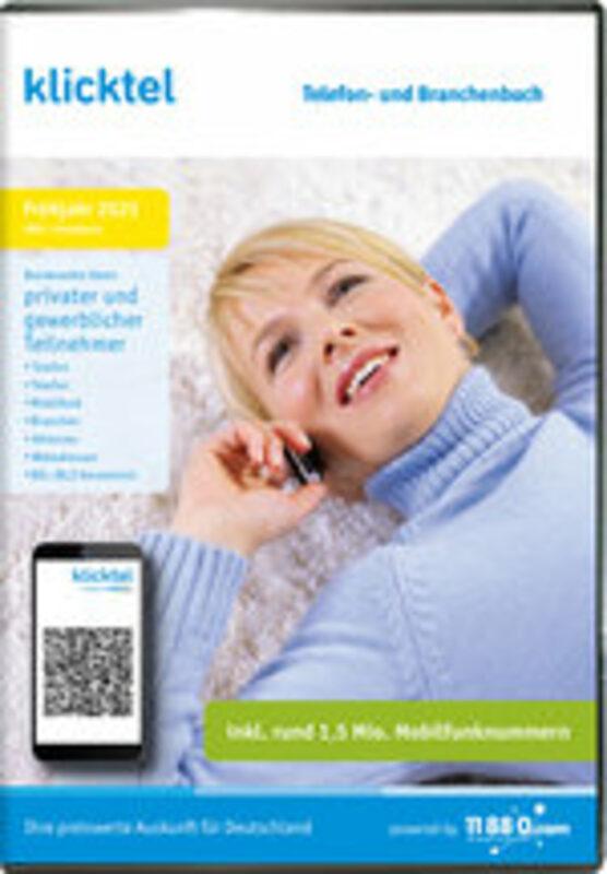 klicktel Telefon- und Branchenbuch Herbst 2021 PC Bild